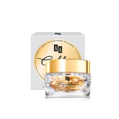 golden ceramides ansigts behandling med 24k guld - 10 gange forøget effektivtet - opstrammer, udglatter og reducerer rynker